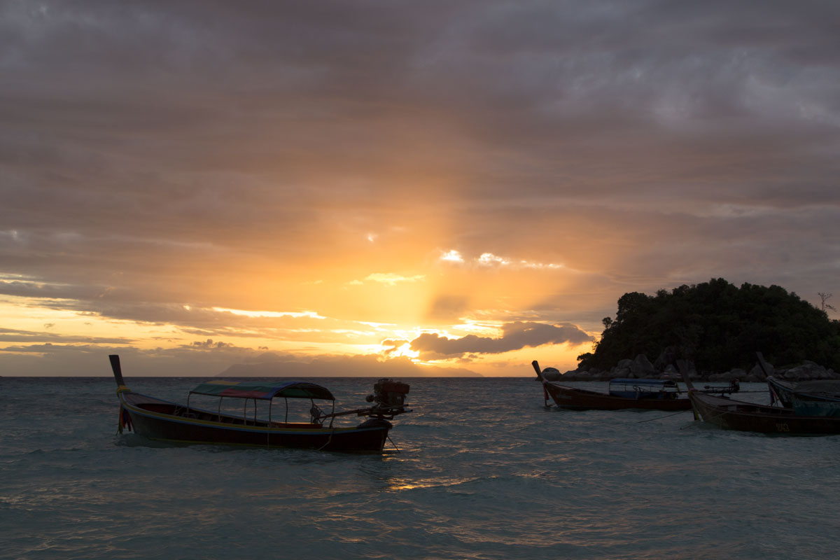 sunset over koh lipe