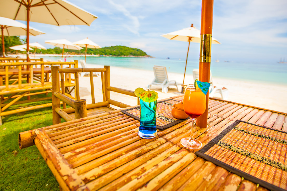 cocktails on pattaya beach