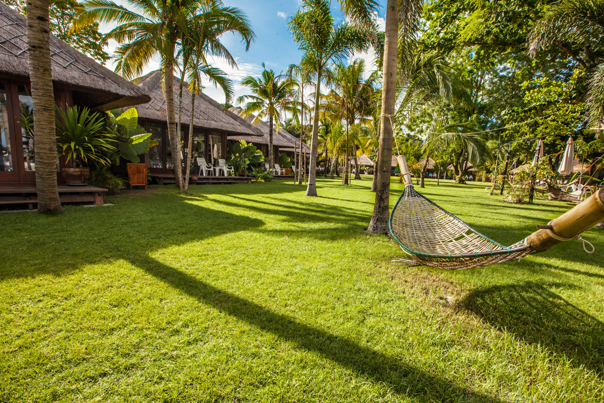 garden hammock at mali resort